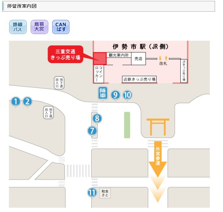 近鉄・伊勢市駅から伊勢神宮・内宮へのアクセス・行き方