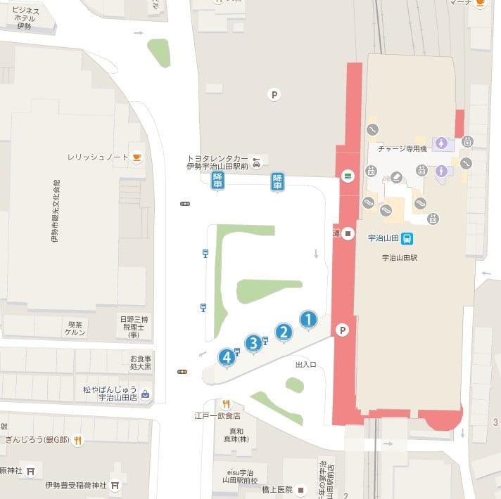 伊勢神宮の内宮を、直接目指すコースの「最寄駅・宇治山田駅」