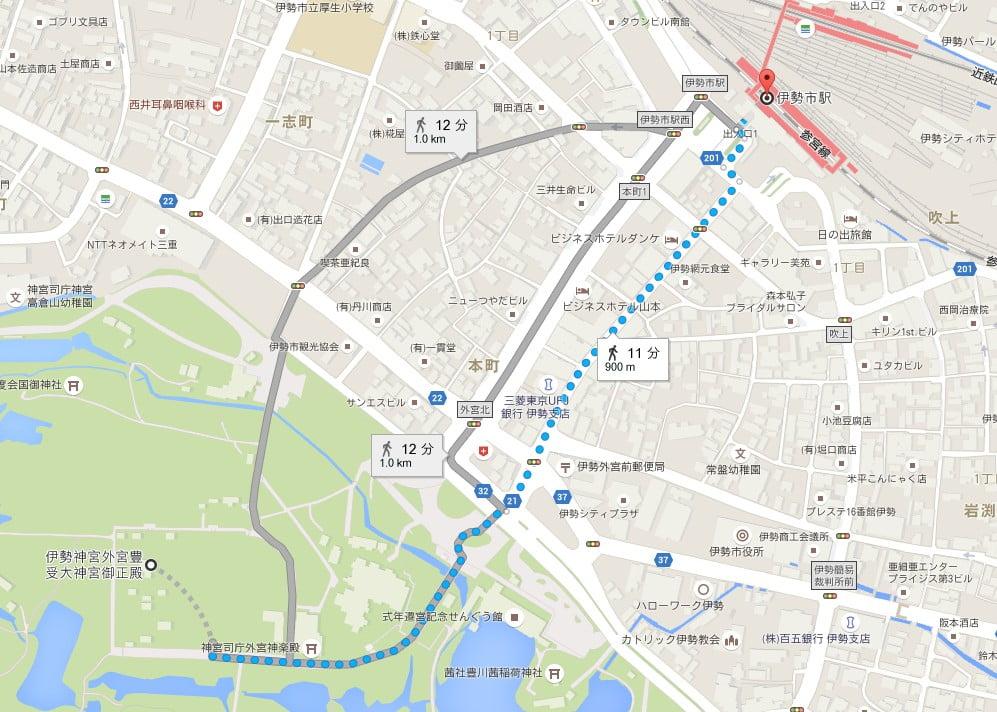 近鉄・伊勢市駅から伊勢神宮・外宮へのアクセス・行き方