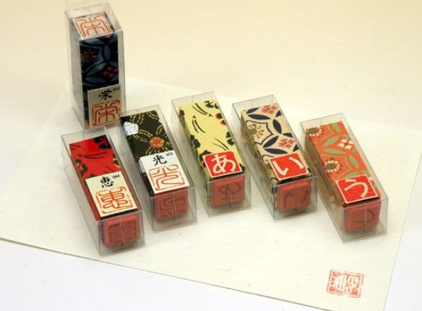 「一文字はんこ」(520円)伊勢千代紙