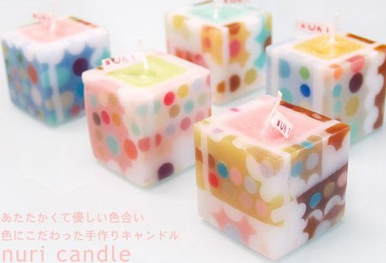 福間乃梨子氏が手がける「nuri candle」