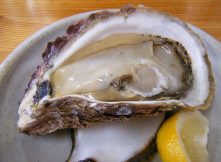 的矢の岩牡蠣(980円)は、一口頬張ると、中のミルクがジュワーと出てきます