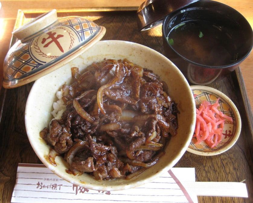 お手軽な牛丼(1,000円)