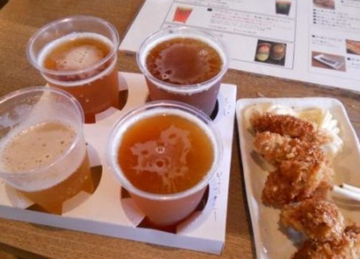 のみくらべセット」は、6種類の地ビールの中から4種類を選ぶ事