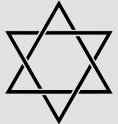 「籠目紋」は上向きの三角と下向きの三角を合わせたマークで、「ユダヤ民族のシンボル」と言われる「ダビデの星」と同じ形状