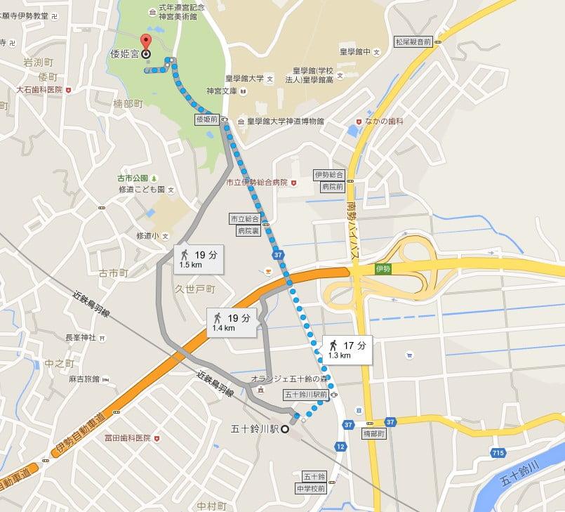 五十鈴川駅から倭姫宮までのアクセス・行き方
