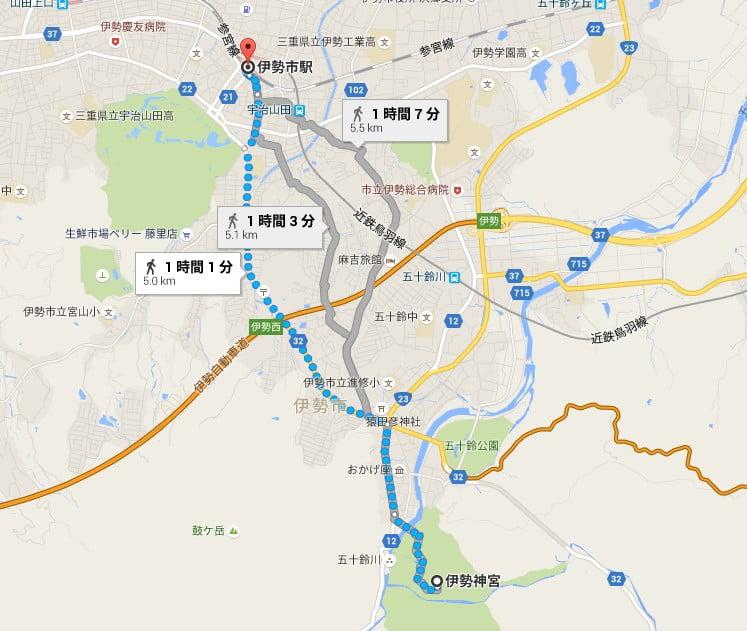 (近鉄・JR)・伊勢市駅から「伊勢神宮・内宮」へのアクセス・行き方