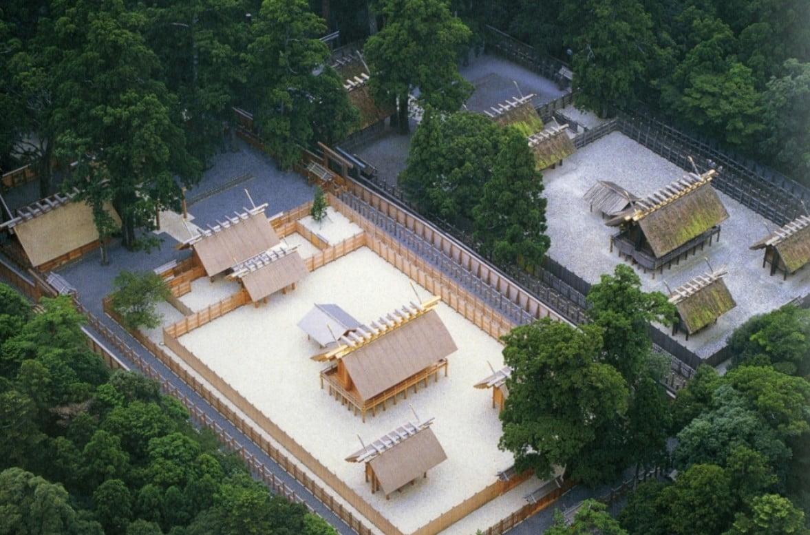 伊勢神宮の内宮(皇大神宮)・正宮の内部の構成【写真/画像図】