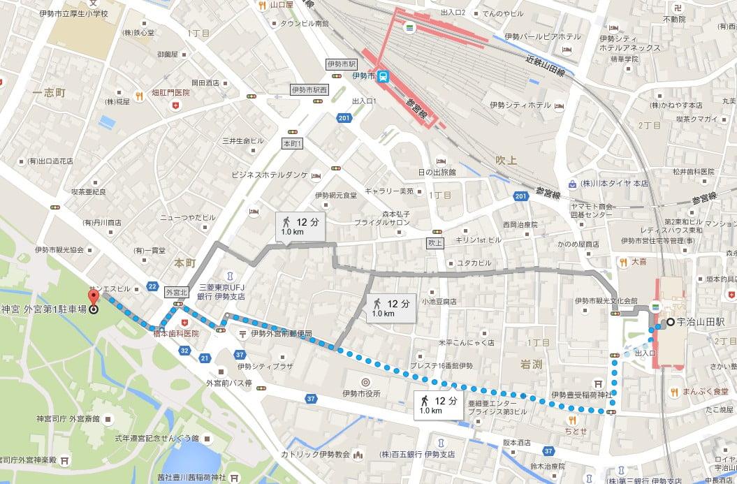近鉄・宇治山田駅からせんぐう館への行き方
