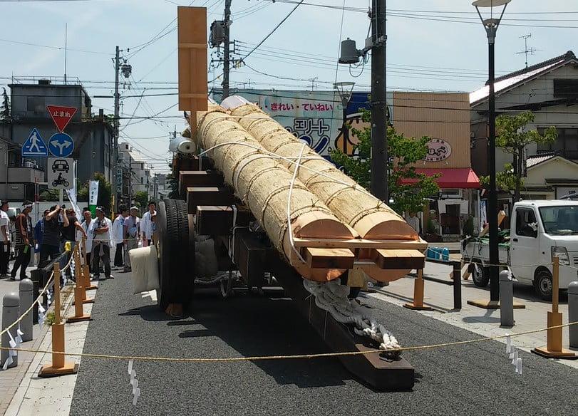 七里の渡し・伊勢国一の鳥居建て替え奉祝祭(お木曳行事)