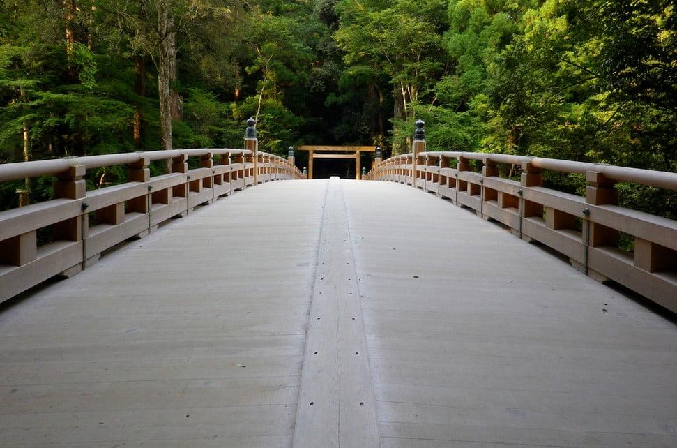 伊勢神宮(-JINGU-)◆風日祈宮橋(KAZAHINO-MINOMIYABASHI)